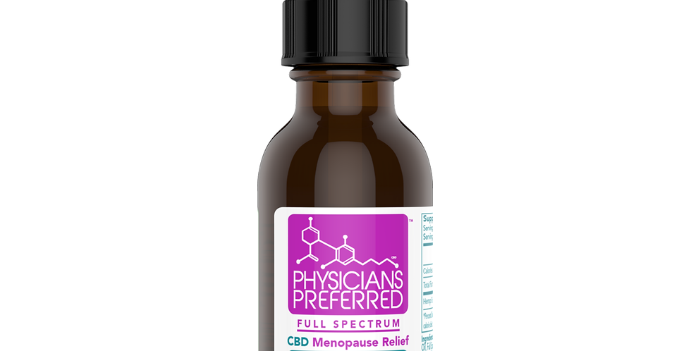 Menopause Relief 250mg Full Spectrum CBD Tincture