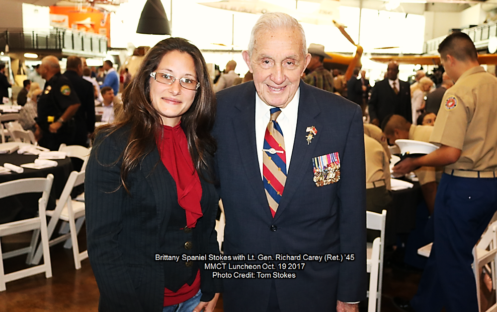 Brittany Stokes with General Carey MMCT Luncheon