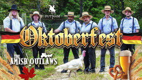 OKTOBERFEST is coming to Putnam County Golf Course, Featuring the Amish Outlaws, Friday, October 1st