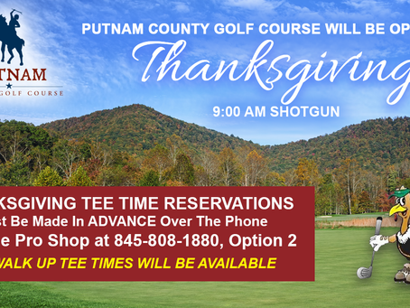 Play Golf on Thanksgiving at Putnam County Golf Course