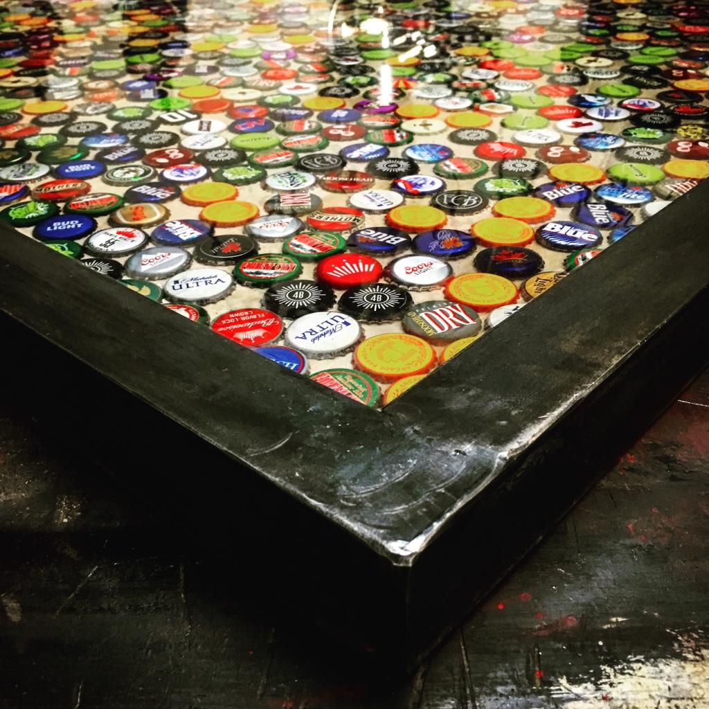 beer cap resin bar tops