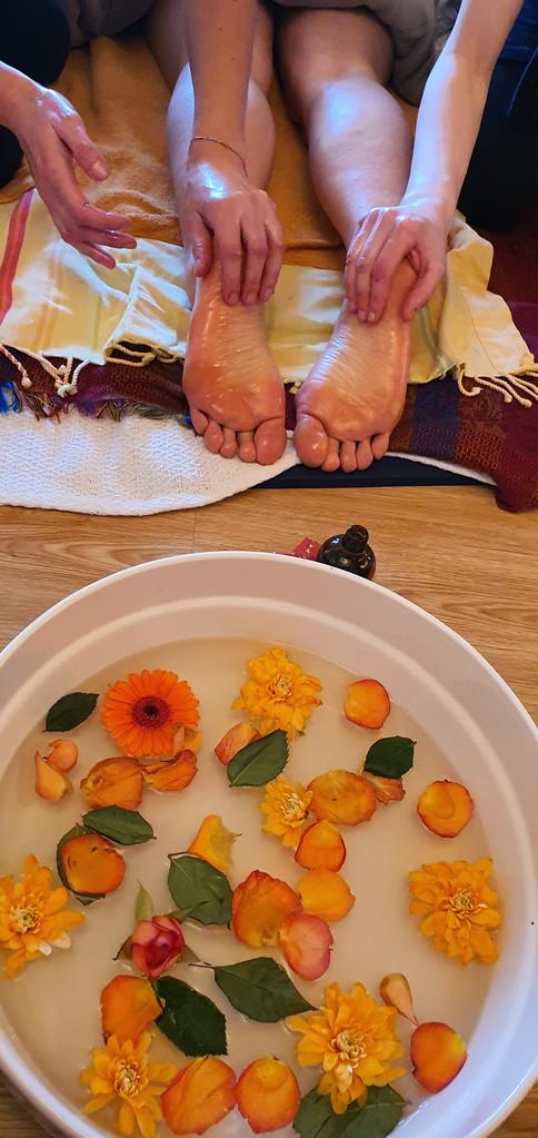 Massage à 4 Mains du Soin-Rituel Rebozo