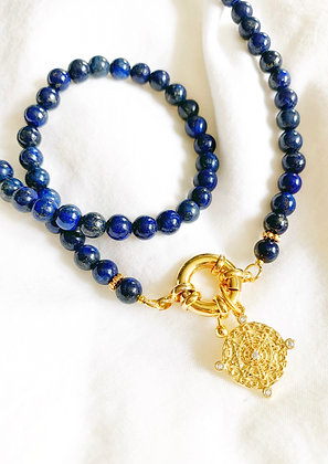 Collier Lapis Lazuli GRIGRI plaqué or