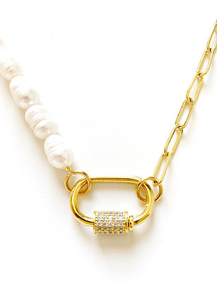 Collier DOUBLE Snap plaqué or