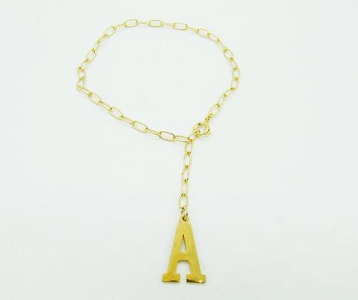 Bracelet Initiale plaqué or