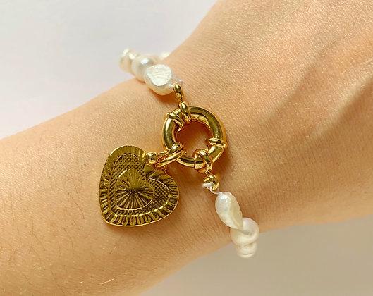 Bracelet PERLA Amour plaqué or