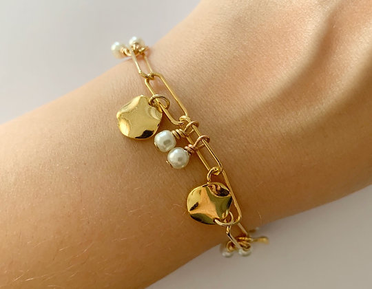 Bracelet Pépite plaqué or