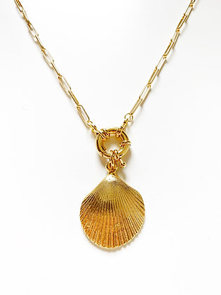 Collier CLAM plaqué or