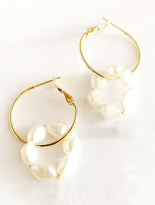 Boucles d'oreilles Ana plaqué or