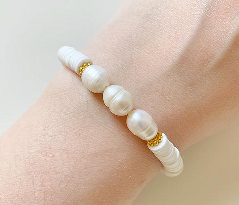 Bracelet HEISHI perla plaqué or