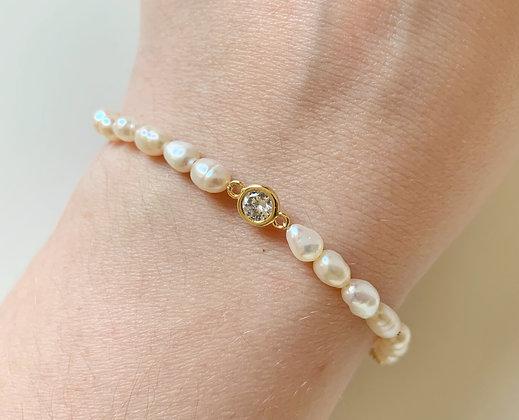 Bracelet PERLA Diamond plaqué or