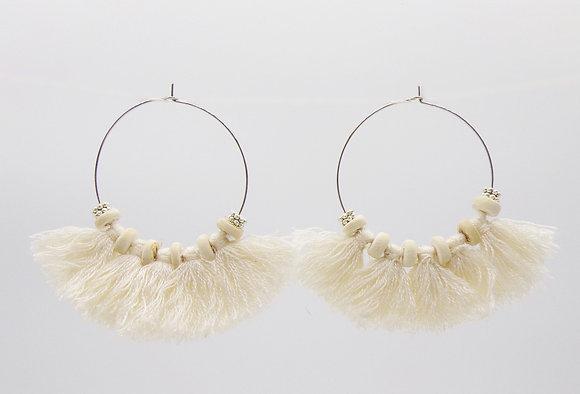 Boucles d'oreilles Elisa argent / or
