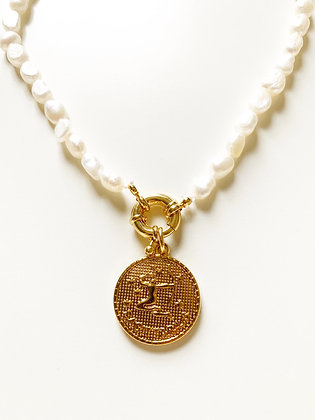 Collier PERLA Zodiac GM plaqué or