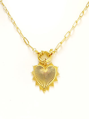 Collier LOVE plaqué or