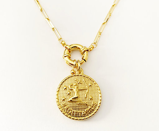Collier Zodiac GM plaqué or