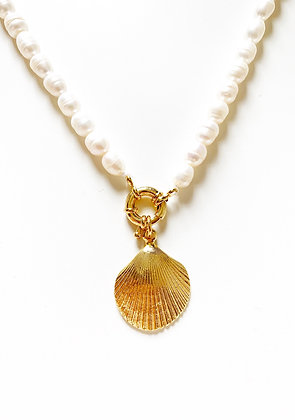 Collier PERLA Clam plaqué or