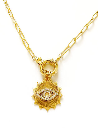 Collier EYE plaqué or
