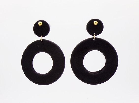 Boucles d'oreilles Lisa noir