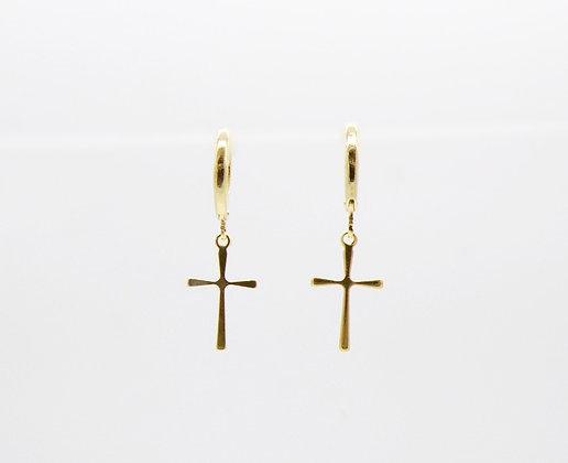 Boucles d'oreilles Amulette plaqué or