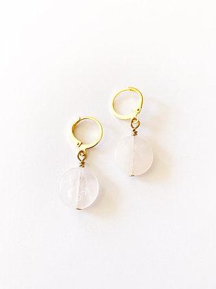 Boucles d'oreilles Précieux Quartz rose