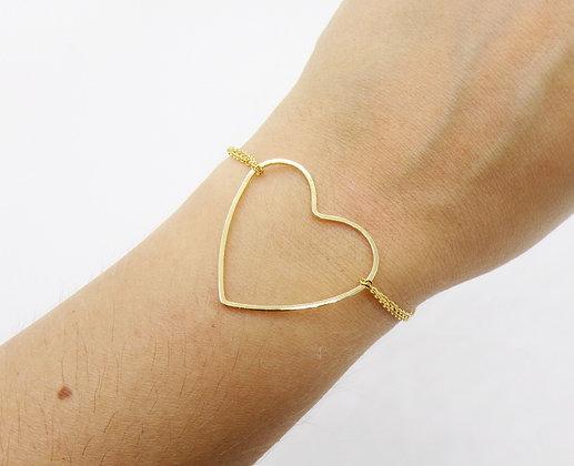 Bracelet Love plaqué or / argent