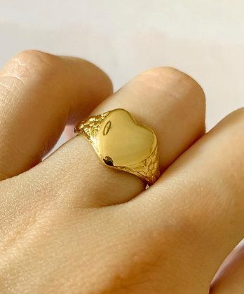 Bague Love plaqué or