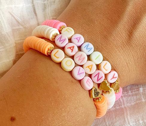 Bracelet COLOR coloré plaqué or