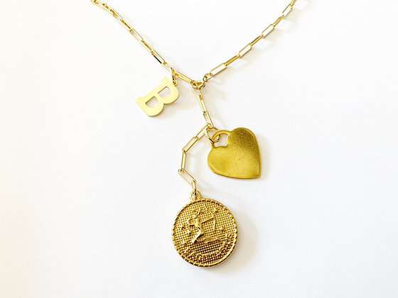 Collier Charm plaqué or