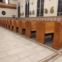 pews are all lined up