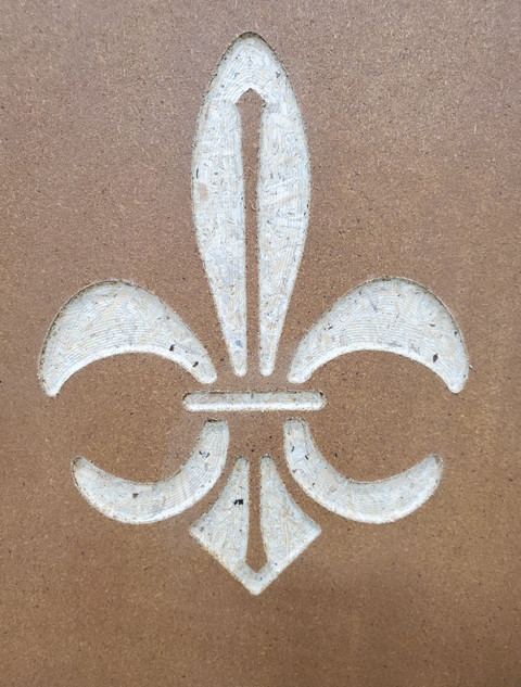 Fleur de Lis design for pew ends