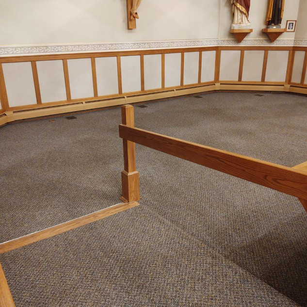 adoration chapel carpeted