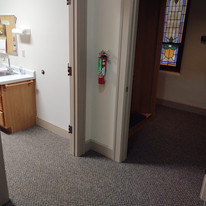Sacristy & Confessional carpeted
