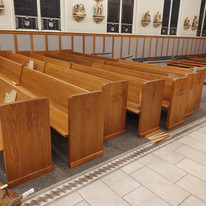 starting to assemble pews