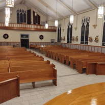 Pews are all assembled!