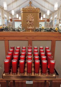New adoration chapel & Eucharistic symbol @ S.M.