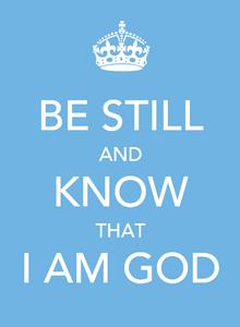 trust rely God stillness