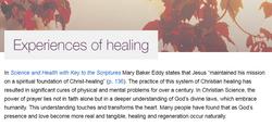 CS Experiences of Healing sans XnCrwn