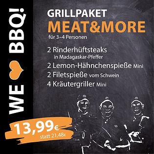 Grillpakete Meat & More für 3-4 Personen