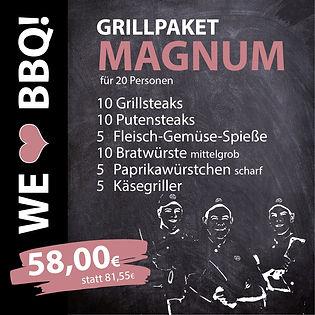Grillpakete Magnum für 20 Personen