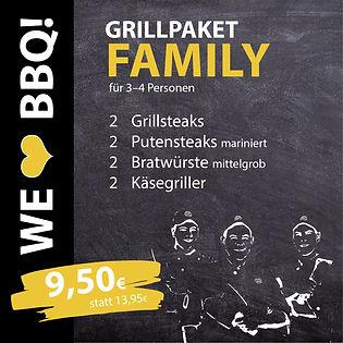 Grillpakete Family für 3-4 Personen