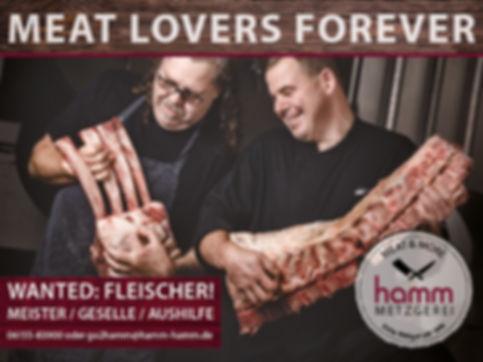 Fleischer, Metzger, Vollzeit, Fleischeslust