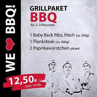 Grillpakete BBQ für 2-3 Personen