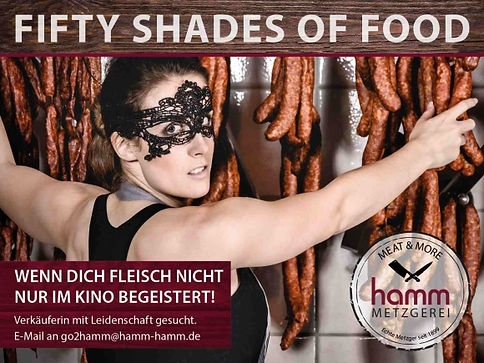 Fleischereifachverkäuferin, fifty shades of food