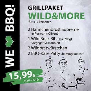 Grillpakete Wild & More für 4-5 Personen