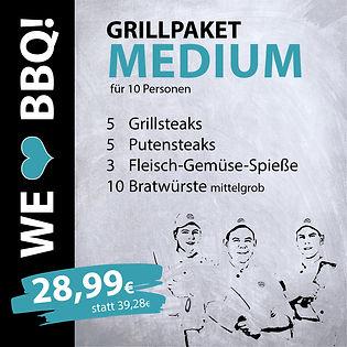 Grillpakete Medium für 10 Personen
