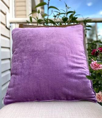 Velvet Decorative Pillow case (Lilac Purple)