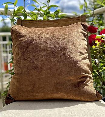 Velvet Decorative Pillow case (Coco Brown)
