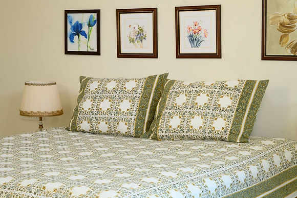 Green Square Bedsheet