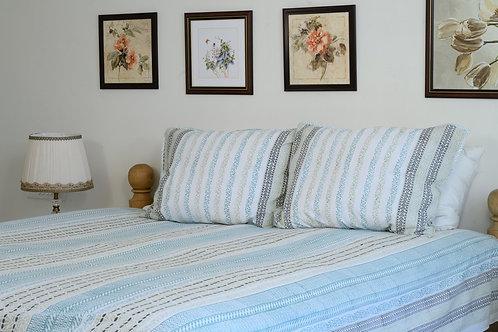 Ice Blue stripe Bedsheet