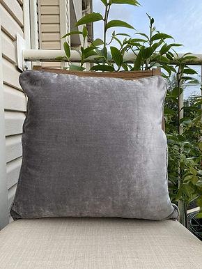 Velvet Decorative Pillow case (Gray)